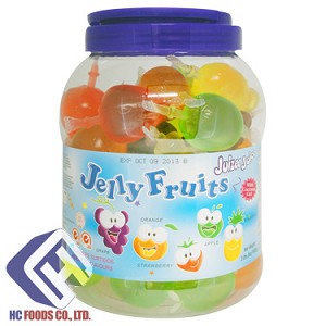 Jelly Fruits with Coconut