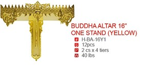 "BUDDA ALTAR 16"" ONE STAND (YELLOW)"