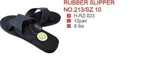 RUBBER SLIPPER NO.213/SZ 10
