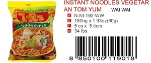INSTANT NOODLES VEGETARIAN TOM YUM
