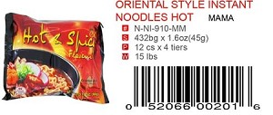 ORIENTAL STYLE INSTANT NOODLES HOT