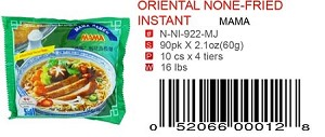 ORIENTAL NONE-FRIED INSTANT