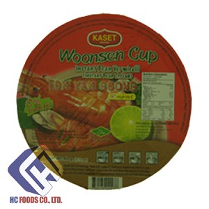 Woonsen Cup Instant Bean Vermicelli TOM YAM GOONG