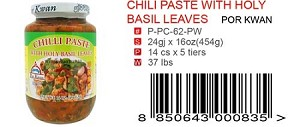 CHILI PASTE WITH HOLY BASIL LEAVES