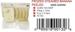 FROZEN STEAMED BANANA PEELED