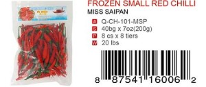 FROZEN SMALL RED CHILLI