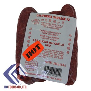 CALIFORNIA SAUSAGE CHINESE BRAND SPICY PORK SAUSAGES (HOT)