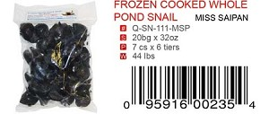 FROZEN COOKED WHOLE POND SNAIL (COPY)