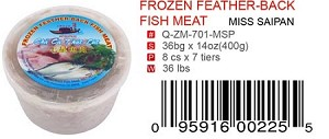 FROZEN FEATHER-BACK FISH MEAT