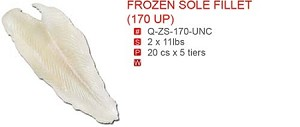 FROZEN SOLE FILLET (170 UP)