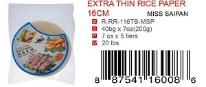 EXTRA THIN RICE PAPER 16CM
