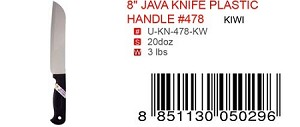 "8"" JAVA KNIFE PLASTIC HANDLE #478"