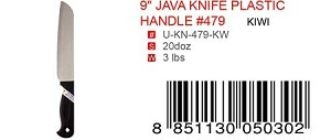 "9"" JAVA KNIFE PLASTIC HANDLE #479"