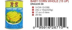 BABY CORN WHOLE (15 UP)
